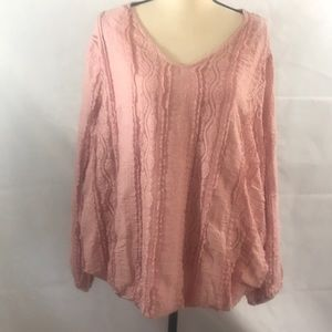 NWT Style & Co long sleeve pink blouse